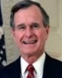 US President George H. W. Bush knighted, a subject of British monarchs.